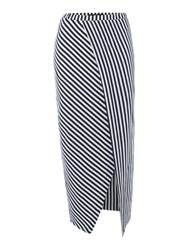 Replay Long Striped Jersey Skirt Multi Coloured Multi Coloured