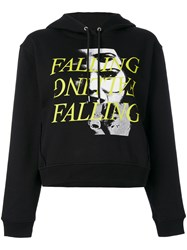 Mcq By Alexander Mcqueen Falling Print Hoodie Women Cotton Xs Black