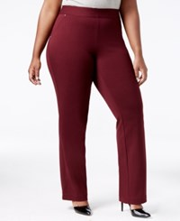 Inc International Concepts Plus Size Pull On Straight Leg Pants Only At Macy's Port