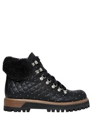 Le Silla 20Mm Swarovski Quilted Leather Boots