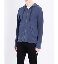 James Perse Vintage Cotton Jersey Hoody Deep