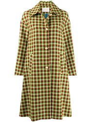 La Doublej Plaid Boxy Coat 60