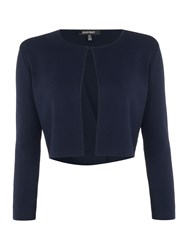Ellen Tracy Bolero Sweater Jacket Navy