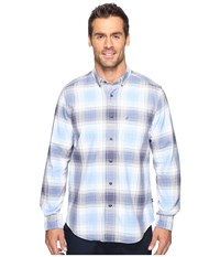 Nautica Long Sleeve Large Blue Plaid Dellarouis Blue Men's Clothing