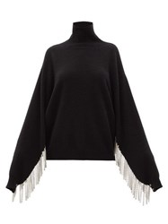 Christopher Kane Chain Fringed Roll Neck Sweater Black