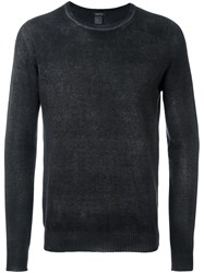 Avant Toi Ribbed Round Neck Jumper Black