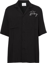 Burberry Embroidered Logo Twill Shirt 60