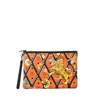 Mcm Large Zipped Pouch With Wristlet