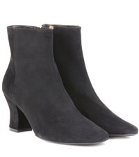 The Row Bowen Suede Ankle Boots Grey