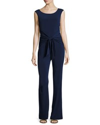 Laundry By Shelli Segal Back Tie Sleeveless Jumpsuit Blue