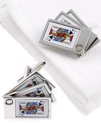 Kenneth Cole Reaction Cufflinks Cards Boxed Set Silver