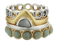 Lucky Brand Ring Stack Two Tone Ring Metallic