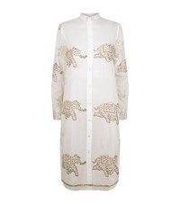 Juliet Dunn Elephant Tunic Shirt Dress Female Multi
