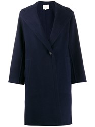 Vince Hooded Coat Blue