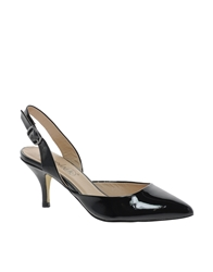 Timeless Pointed Toe Kitten Heel Shoe Black