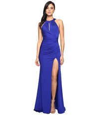 Faviana Faille Satin Keyhole 7890 Royal Women's Dress Navy
