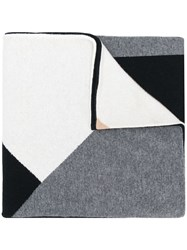 Chinti And Parker Geometric Patterned Scarf Black