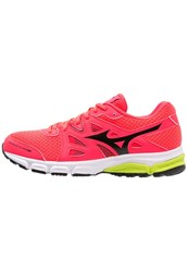 Mizuno Synchro Md Neutral Running Shoes Diva Pink Black Safety Yellow