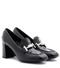 Tod's Loafer Style Leather Pumps Black