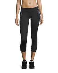 Marc New York Marc Ny Performance Space Dye Paneled Capri Leggings Black Black Space Dye