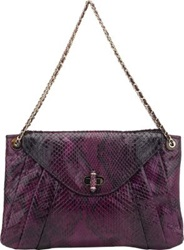 Zagliani Python Claudia Small Shoulder Bag Purple