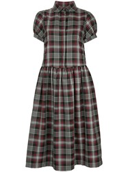 Shrimps Effie Tartan Short Sleeve Dress Grey