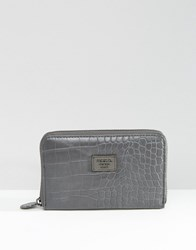 Marc B Lolitta Classic Zip Around Purse Grey