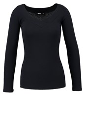 Bik Bok Sophie Long Sleeved Top Dark Navy Dark Blue