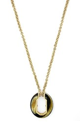 Women's Louise Et Cie Geometric Pendant Necklace Gold Horn Acetate
