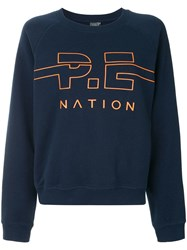P.E Nation Swingman Sweatshirt Blue