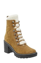 Marc Fisher Ltd Denise Combat Boot Tobacco Natural Suede