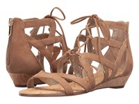 Sam Edelman Dawson Golden Caramel Suede Women's Dress Sandals Beige
