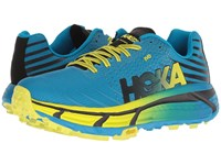 Hoka One One Evo Mafate Cyan Citrus Running Shoes Blue