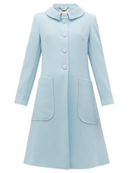 Goat Parisian Rounded Collar Wool Coat Light Blue