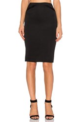 Atm Anthony Thomas Melillo Tuxedo Pencil Skirt Black