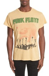 Madeworn 'S Pink Floyd Graphic T Shirt Washed Yellow