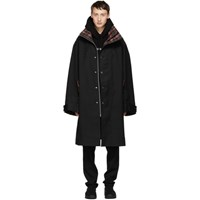 Cmmn Swdn Black Ivan Oversized Car Coat
