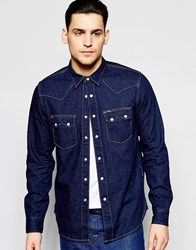 Lee 101 Rider Shirt Navy