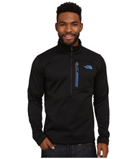 The North Face Canyonlands 1 2 Zip Pullover Tnf Black Monster Blue Men's Long Sleeve Pullover