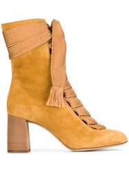 Chloe 'Harper' Ankle Boots Nude And Neutrals
