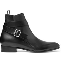 Balenciaga Leather Jodphur Boots Black