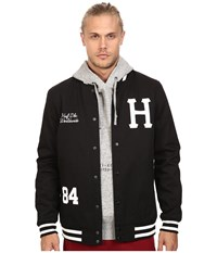 Huf Classic H Varsity Jacket Black 1 Men's Coat