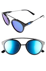 Westward Leaning Women's 'Flower' 51Mm Sunglasses Black Deep Blue Black Deep Blue