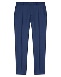 Jaeger Wool Basketweave Slim Trousers French Navy