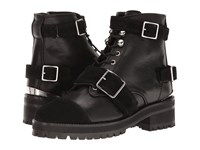 The Kooples Mix Smooth And Suede Leather Black Women's Boots