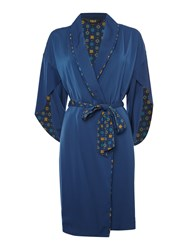 Biba Tile Print Lined Satin Robe Multi Coloured Multi Coloured