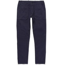 The Workers Club Slim Fit Garment Dyed Cotton Twill Chinos Navy