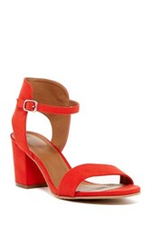 14Th And Union Trista Open Toe Sandal Wide Width Available Red Faux Suede