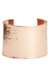 Karine Sultan Women's Hammered Cuff Rose Gold