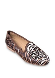 Del Toro Pony Hair Slippers Tiger